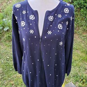 NWT Women's Cardigan Sweater Zip Front Size 1X
